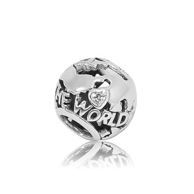 Pandora 潘朵拉 環遊世界地圖 純銀墜飾 串珠