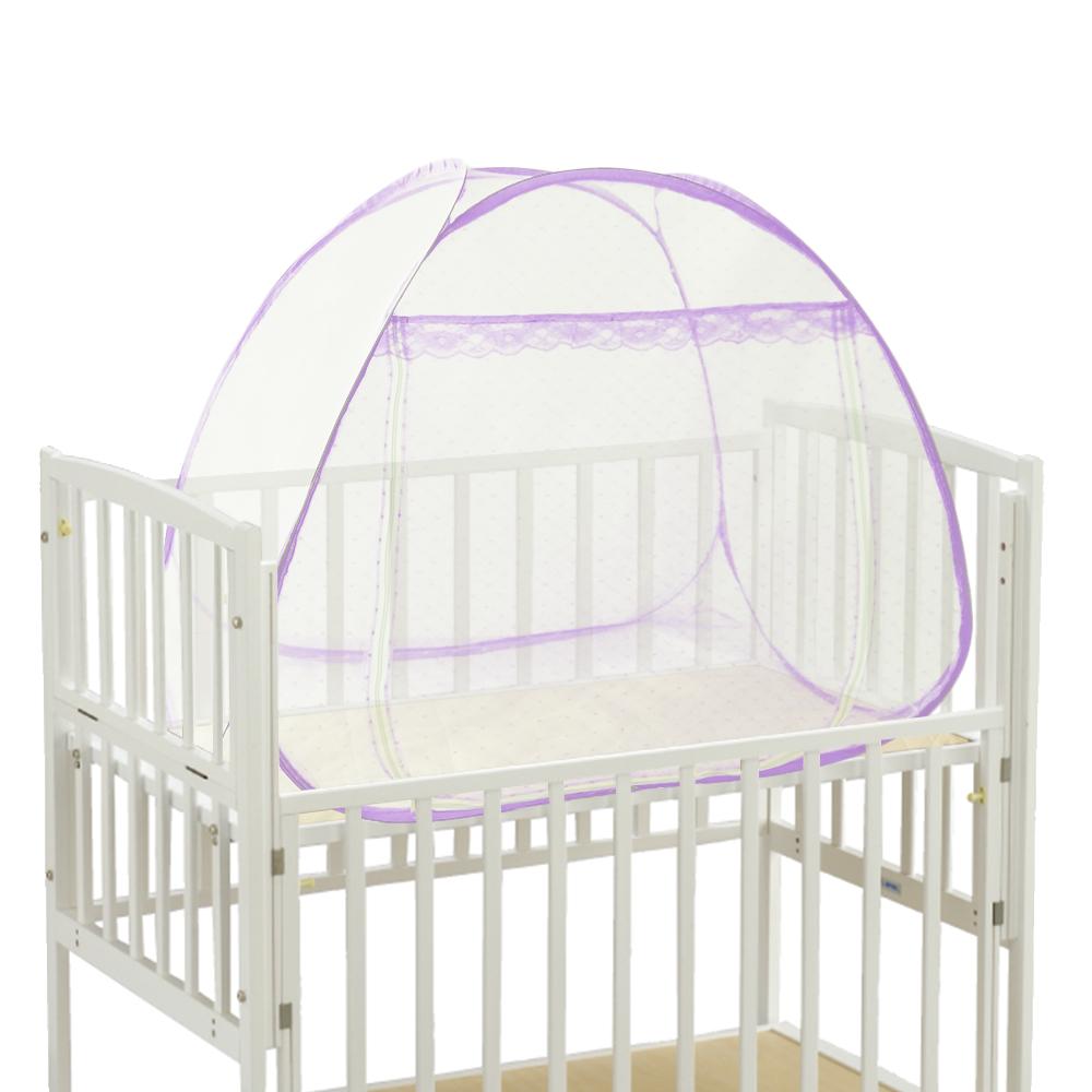 亞曼達Amanda 單開門拉鏈彈開式蚊帳/立體蒙古包-嬰兒床(嬰兒白)