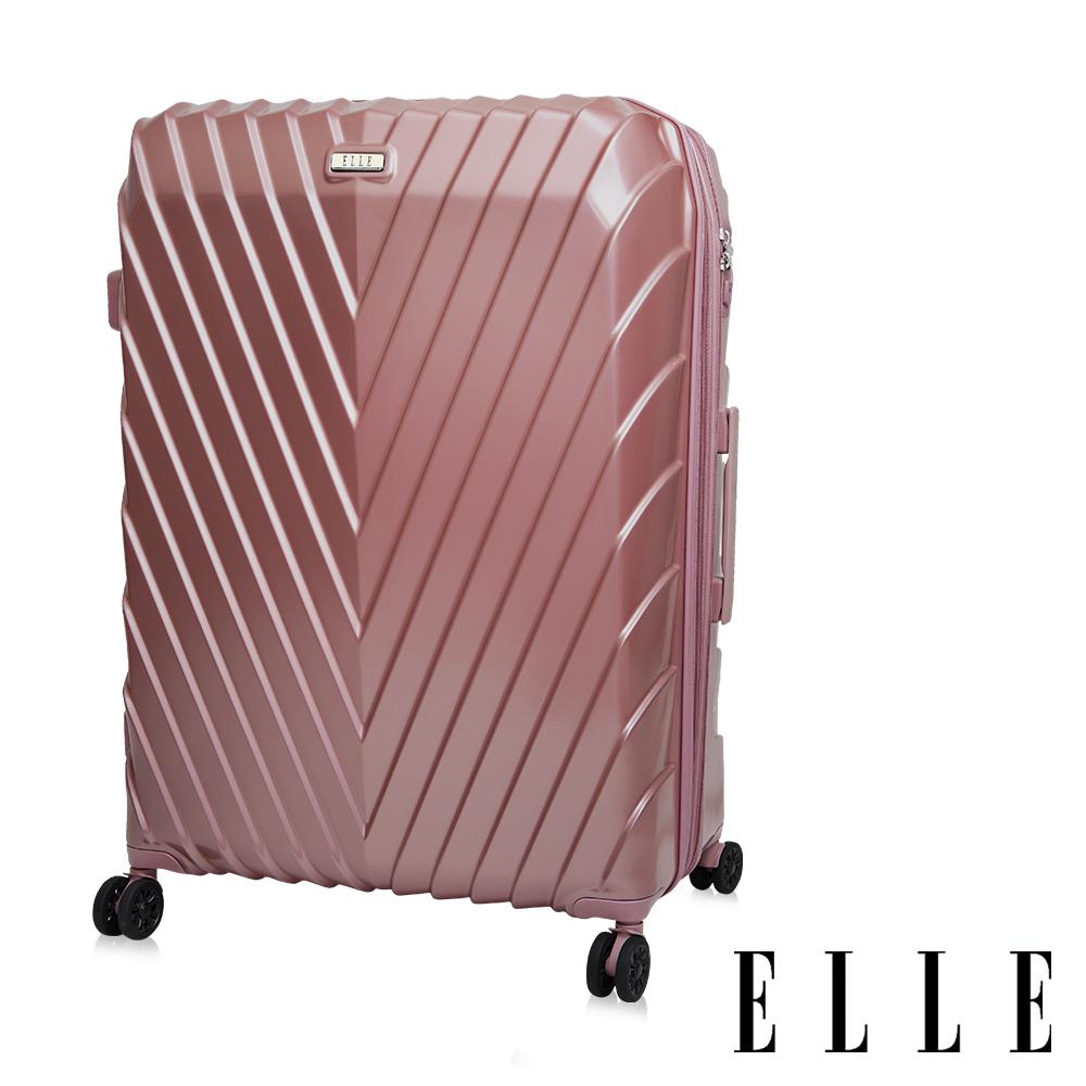 ELLE 法式V型鐵塔系列- 29吋純PC霧面防刮耐撞行李箱-乾燥玫瑰EL31199