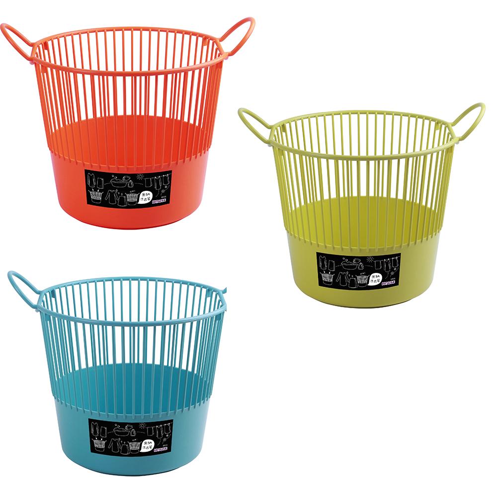 HOUSE 米納洗衣籃 (合色-綠.橘.藍)*5入