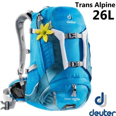 【德國 Deuter】Trans Alpine 26L 自行車網架透氣背包.登山_藍/深藍