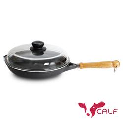 牛頭牌 小牛鑄造淺平鍋28cm(玻蓋)