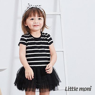 Little moni條紋紗裙包屁衣2色可選
