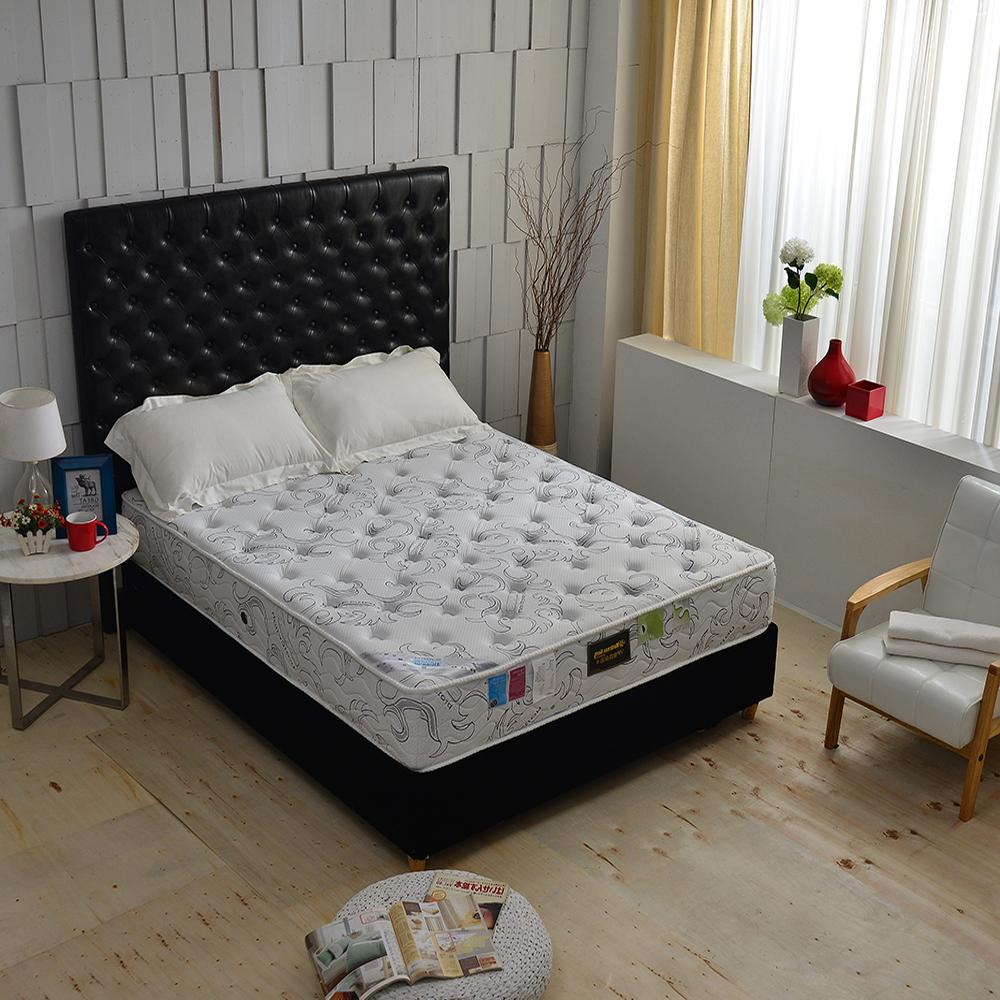 MG珍寶-乳膠抗菌+德國銀離子涼感抗菌除臭 側邊強化獨立筒床墊-單人3.5尺-護腰床