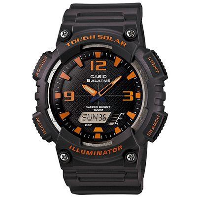 CASIO 新一代光動遊俠雙顯運動錶(AQ-S810W-8A)-黑面x深灰色/46.6mm