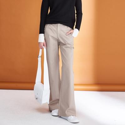 Hana+花木馬 簡約率性挺版素面百搭直筒造型長褲(三色)-卡其