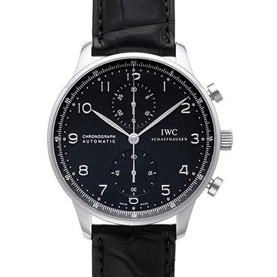 IWC 萬國錶 Portuguese IW371447大葡萄牙系列黑面計時腕錶-40.9mm