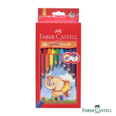 Faber-Castell 紅色系大六角粗筆蕊 6 . 0 mm 彩色鉛筆