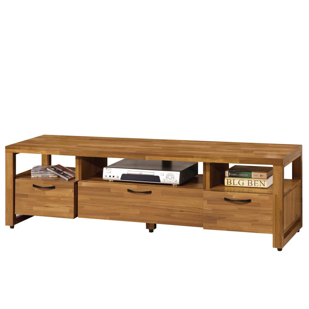 品家居 克里夫5尺木紋長櫃/電視櫃-150x45x46.5cm-免組