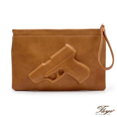 F-A-Y-E-暗藏甜蜜GUNbag手槍包-焦糖駝
