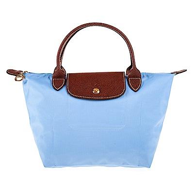 Longchamp Le Pliage 短把摺疊水餃包 (小/灰藍)