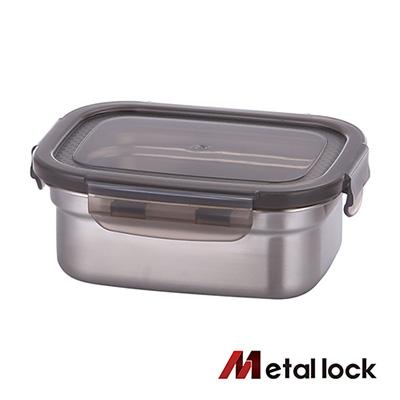 韓國Metal lock 方形不鏽鋼保鮮盒520ml