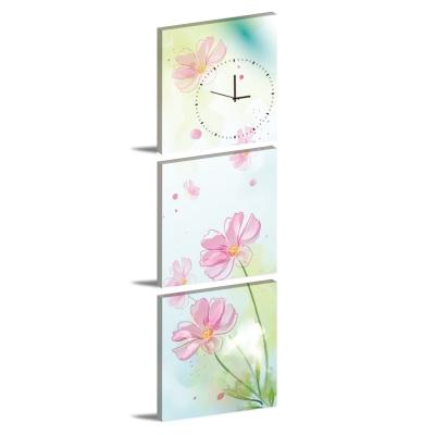 美學365-三聯客製化掛飾壁鐘時鐘畫框無框畫藝術掛畫-波斯-40x40cm