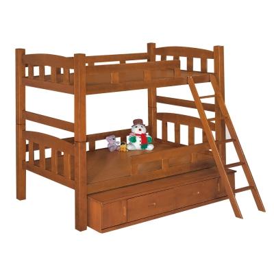 Bernice-喬可功能型雙層床架(附抽屜櫃)