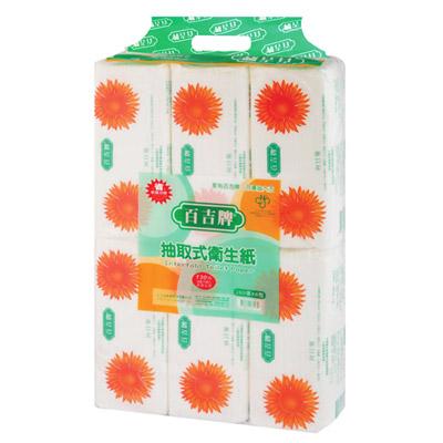 百吉牌抽取式衛生紙(130抽x6包)