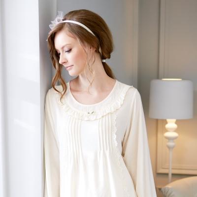 羅絲美睡衣 - 優雅時刻長袖褲裝睡衣 (天使白)