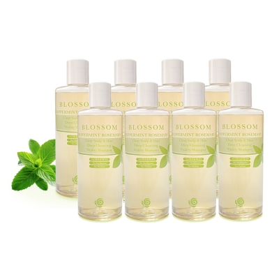 BLOSSOM 薄荷迷迭香清爽活髮深層淨化修護洗髮精(250ML/瓶 8瓶組)