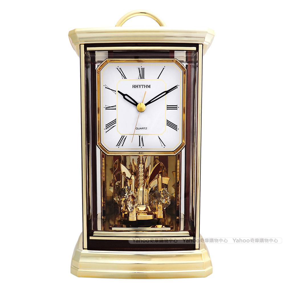 RHYTHM日本麗聲 典藏時刻精緻歐風裝飾座鐘/26cm