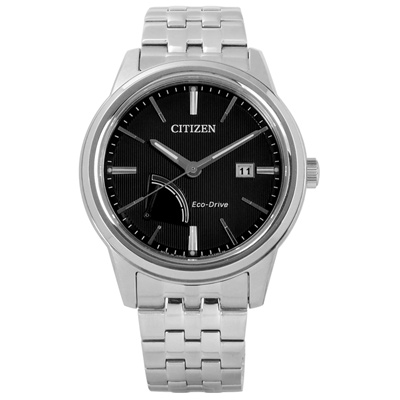 CITIZEN 歐風時尚男仕光動能手錶(AW7000-58E)-黑色/41.5mm