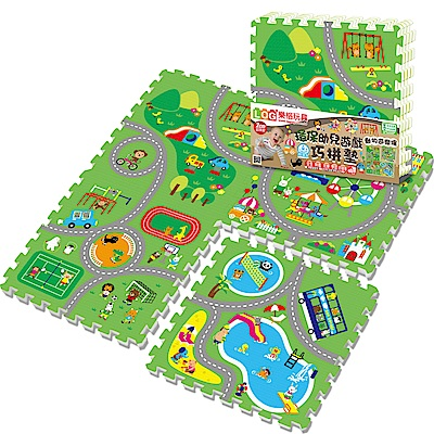 LOG樂格 環保EPE幼兒遊戲巧拼墊 -動物遊樂園 (60X60cmX厚2cmX4片)