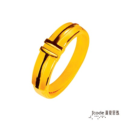 J'code真愛密碼 最美的約定黃金男戒指
