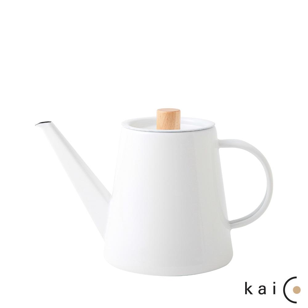日本Kaico 琺瑯手沖壺-1.3L