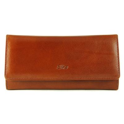 Sika - 義大利時尚真皮雙釦長夾A8216-01 - 原味褐
