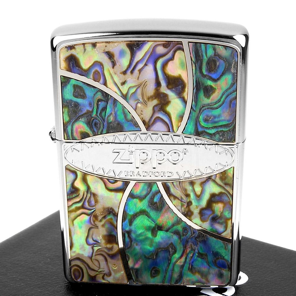 ZIPPO 日系~Shell Inlay-天然貝殼鑲嵌貼飾打火機