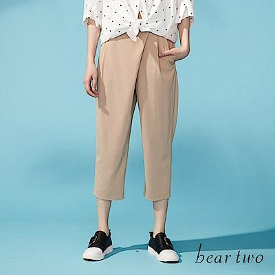 beartwo 斜片剪裁打摺老爺褲(二色)