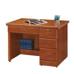 Bernice-艾譜莉實木樟木色3.5尺書桌-免組