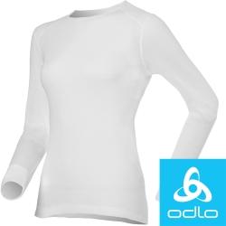 瑞士【Odlo】152021 女銀離子圓領保暖衛生衣(白)