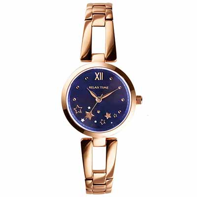 RELAX TIME 小資?微甜錶款(RT-71-5)藍星星x玫瑰金/28mm