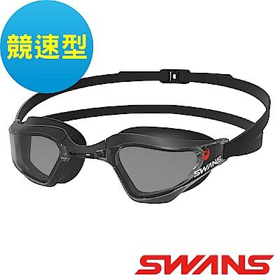 【SWANS 日本】專業競速型泳鏡SR- 72 NPAF黑(防霧/抗UV/可調式鼻墊)