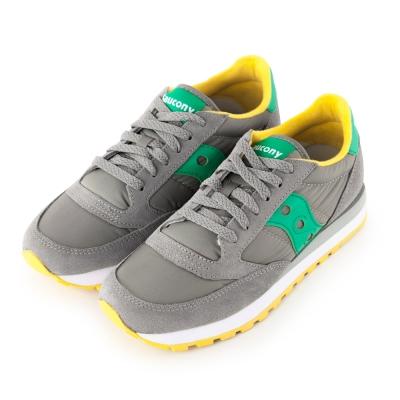 (女) 美國 SAUCONY 經典時尚休閒輕量慢跑球鞋-灰綠