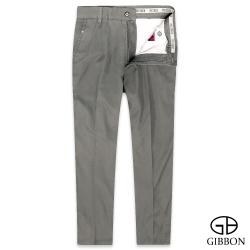 GIBBON 舒適純棉橫紋休閒長褲‧灰褐31-42