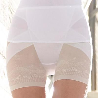 曼黛瑪璉-羽涼級‧輕鬆塑   高腰短管縮腹提臀褲(牙白)