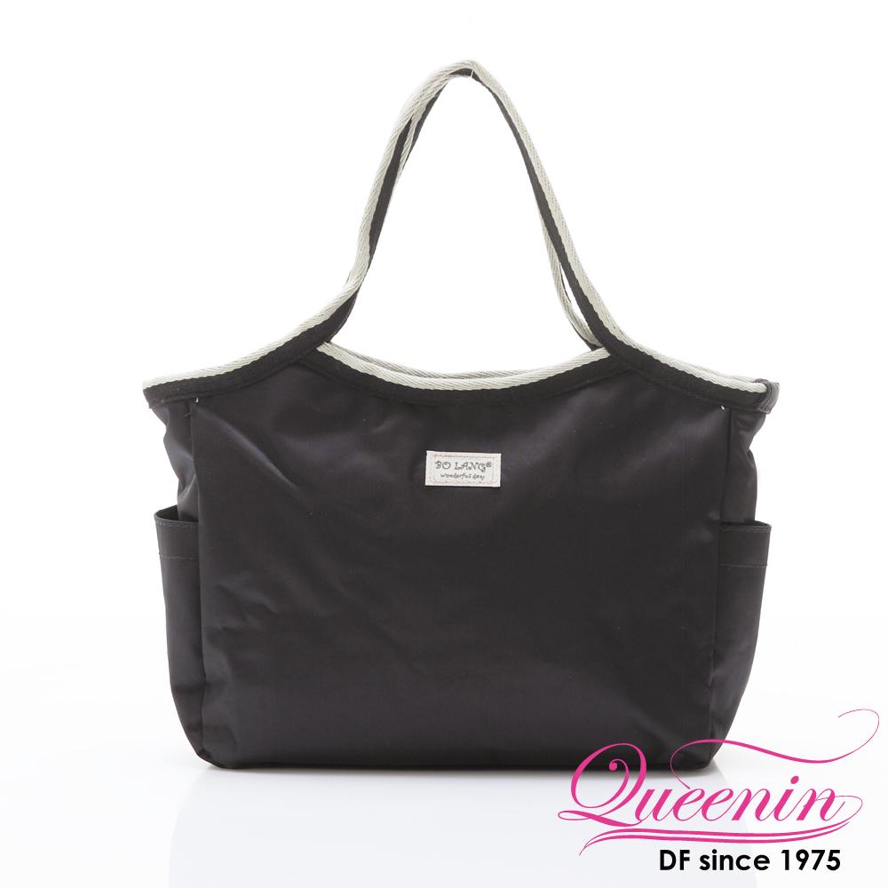DF Queenin - 韓版百搭輕便式多用途手提包-黑色