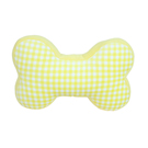 Yvonne Collection格紋小骨造型抱枕-嫩黃