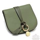 2R 輕軟牛皮Funk拉鍊飾帶短夾 嫩鮮綠