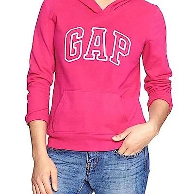 GAP 女生 長袖 帽T 粉紅 0467