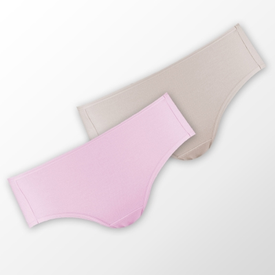 蕾黛絲-伴你一生(牛奶紗)棉褲二件包(中腰)M-EL 粉/膚