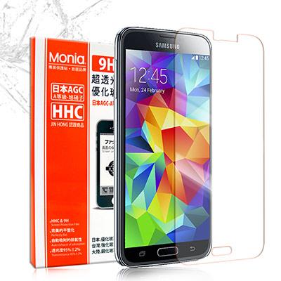 MONIA 三星 GALAXY S5 / i9600 日本頂級超透光9H鋼化玻璃膜