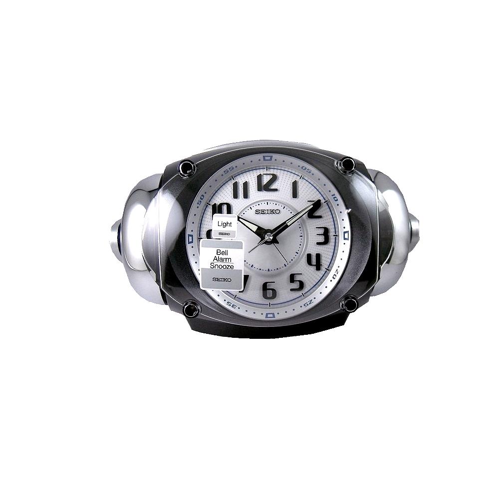 SEIKO 日本工 大聲公 靜音 貪睡鬧鐘(QHK043K)-黑/12.6X21.4cm