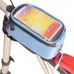 色彩繽紛 自行車觸屏手機置物包(附耳機延長線)-藍色