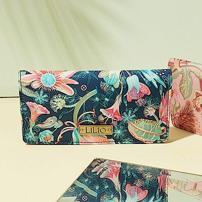 LiliO 長卡夾  非洲花卉彩繪印花Card Wallet Cosmos