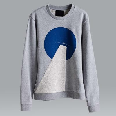 摩達客韓國進口設計品牌DBSW幽浮探照圓領長袖T恤