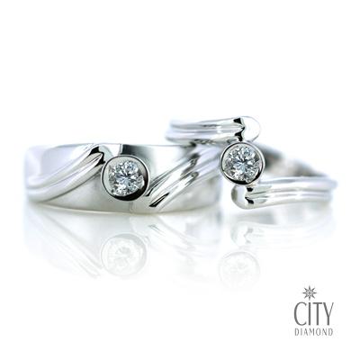 City Diamond『雪影之戀』11分對戒