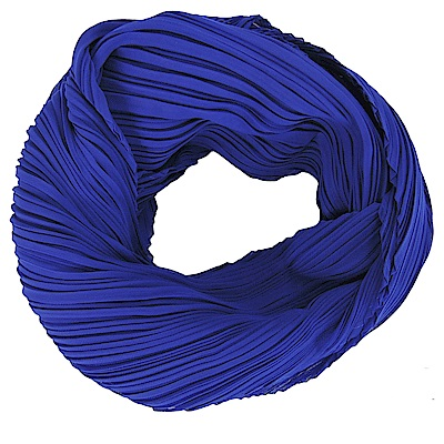 ISSEY MIYAKE三宅一生PP MONTHLY SCARF四褶素面斜紋圍巾(藍紫)