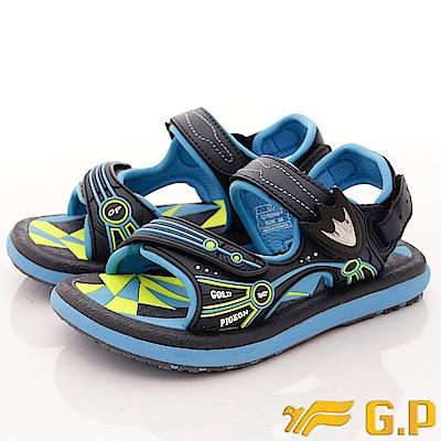 GP涼鞋-磁扣兩穿涼鞋-SE625B-22淺藍(中大童段)