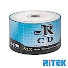RITEK錸德 52X CD-R白金片 馬賽克版/50片裸裝